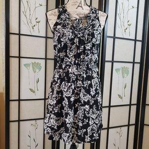 ELLE black and white floral dress